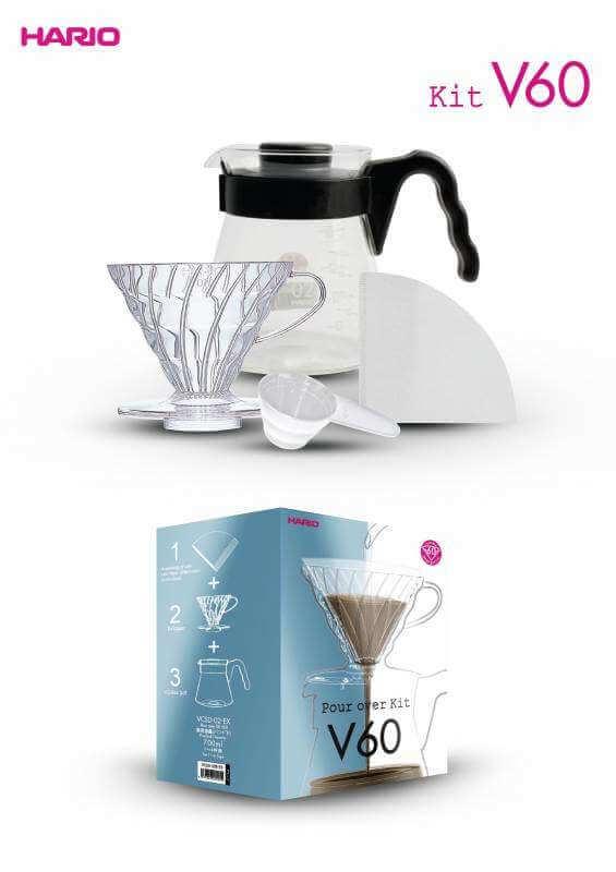 HARIO Kit V60 1–4 tasses