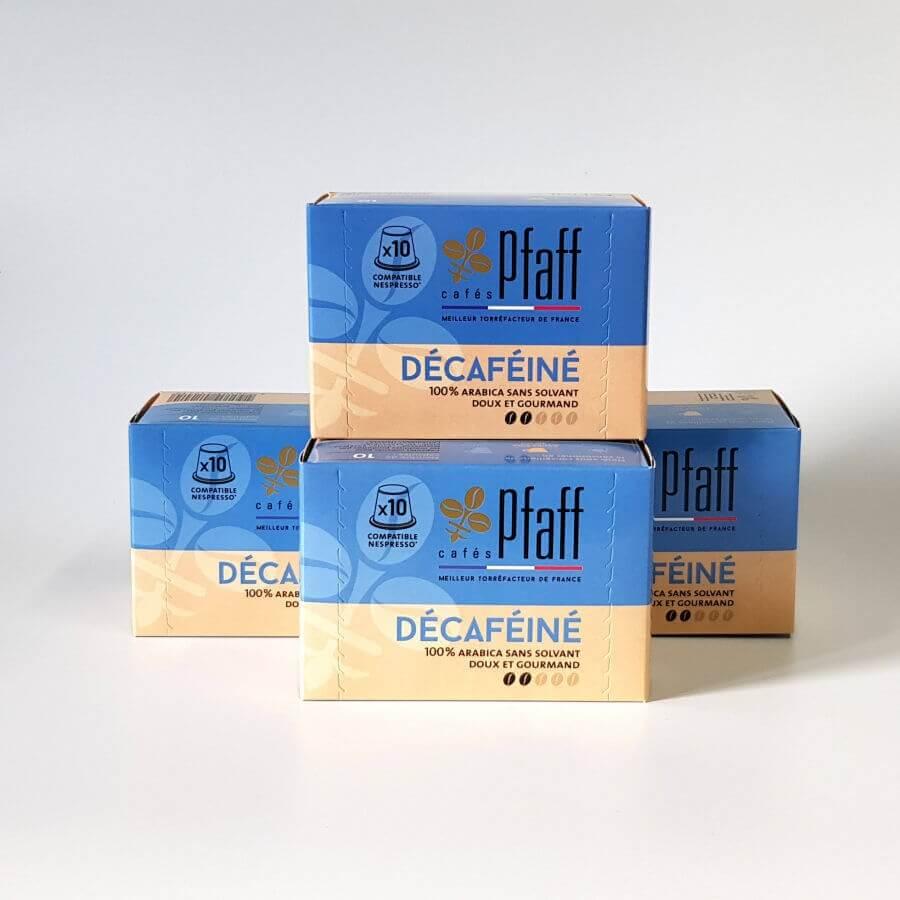 lot 4 boites decafeine capsules compatibles nespresso pfaff  7