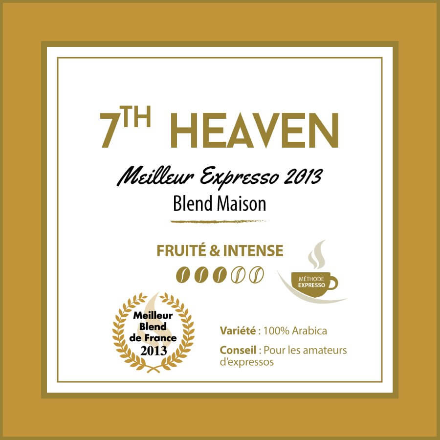 BLEND MAISON - 7 th Heaven - Meilleur Expresso de France - café en grain