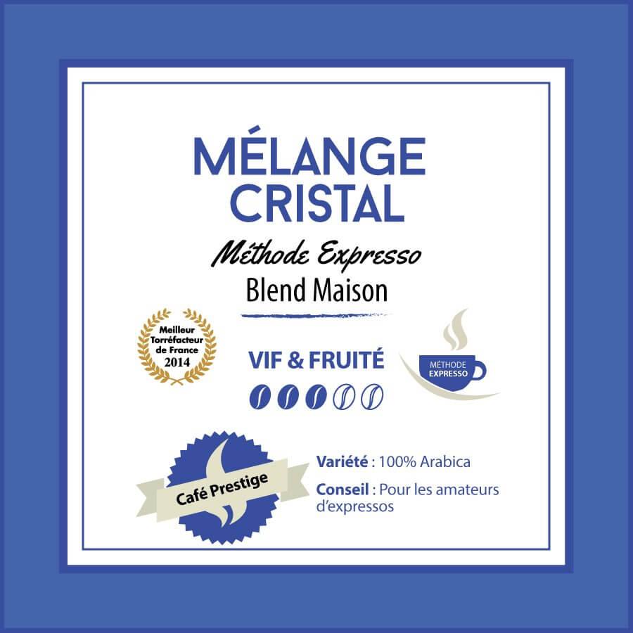 BLEND MAISON - Mélange CRISTAL - Méthode expresso - café moulu
