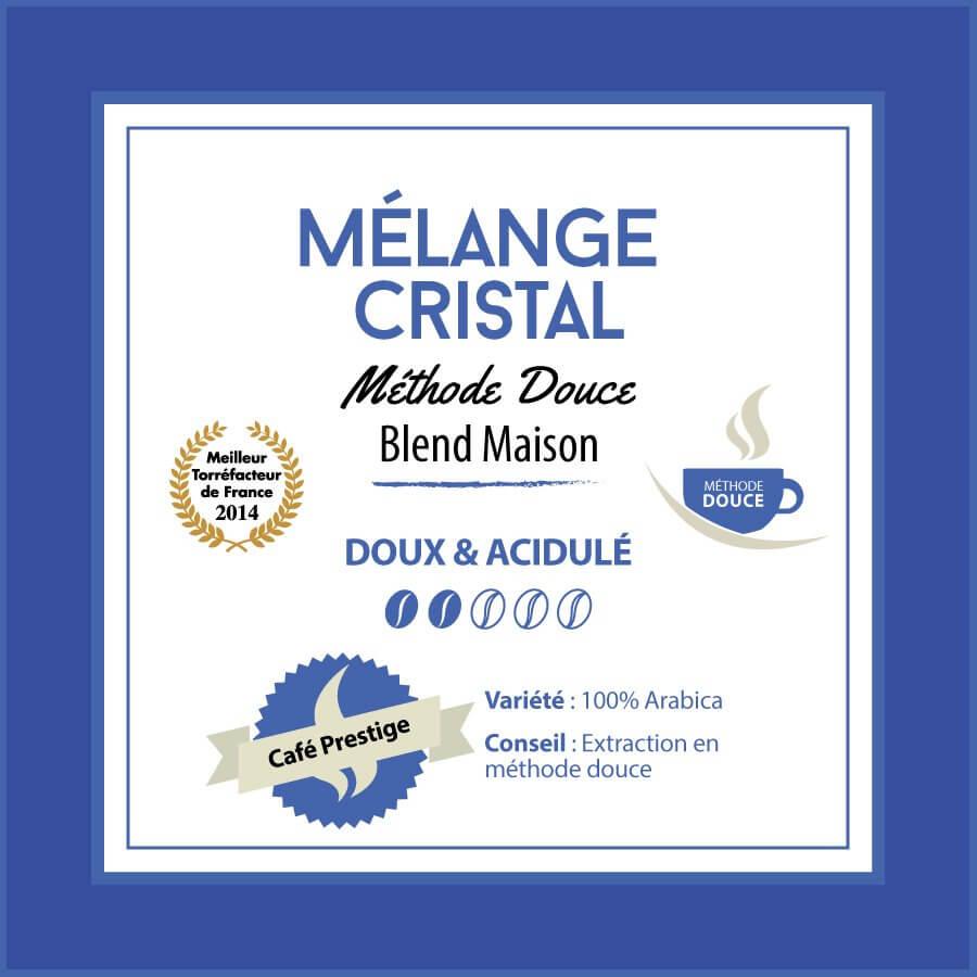 Café en grain BLEND MAISON - Mélange CRISTAL - Méthode douce