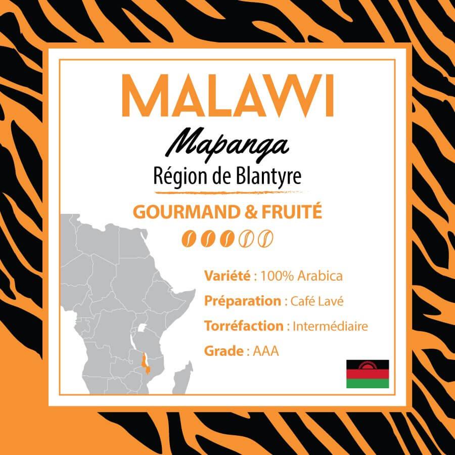 Café MALAWI - Mapanga - Région de Blantyre - café moulu