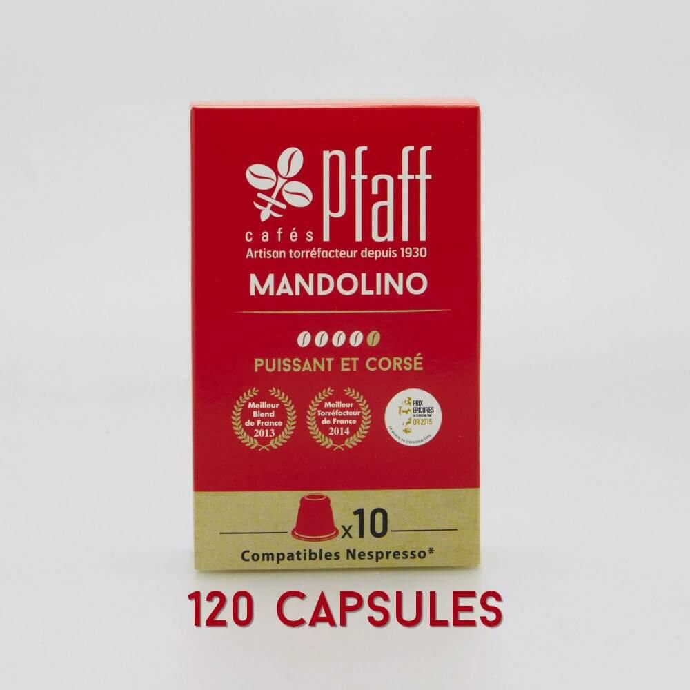 mandolino capsules cafes cafes pfaff2017 pack120