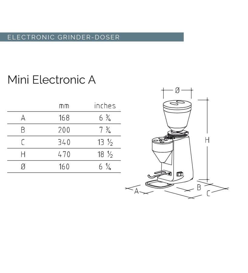mazzer mini electronique a moulin a cafe dimensions