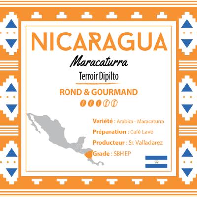 Café NICARAGUA - Maracaturra - Région Dipilto - café moulu