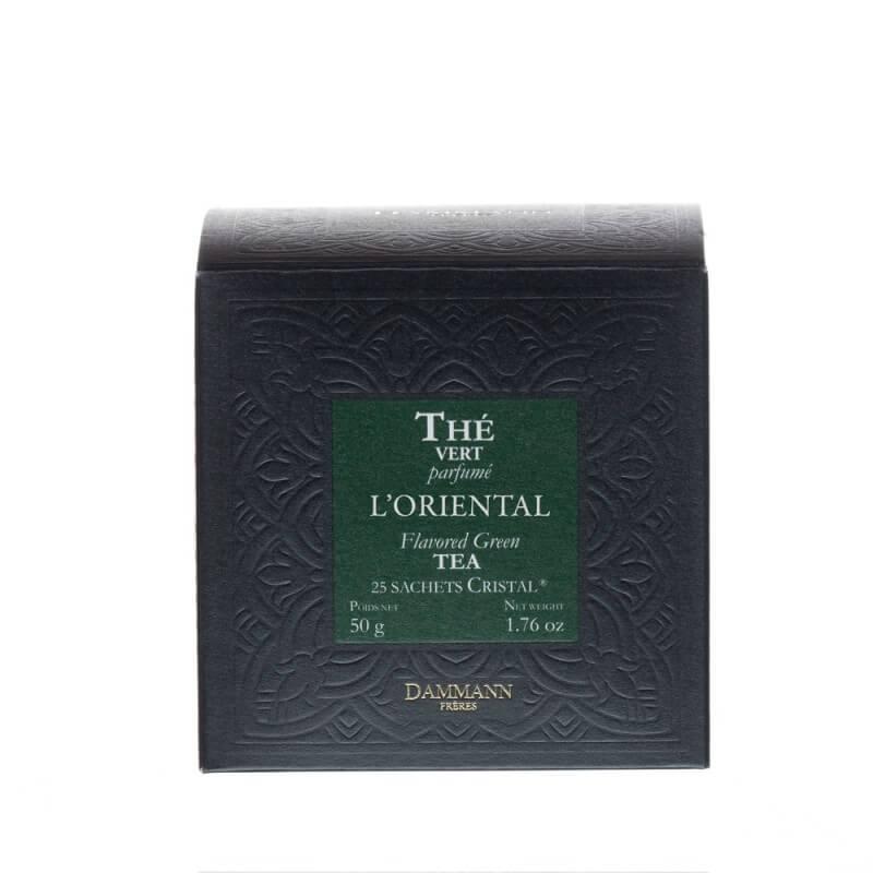 Thé vert Mélange Oriental -  boîte 25 sachets Cristal