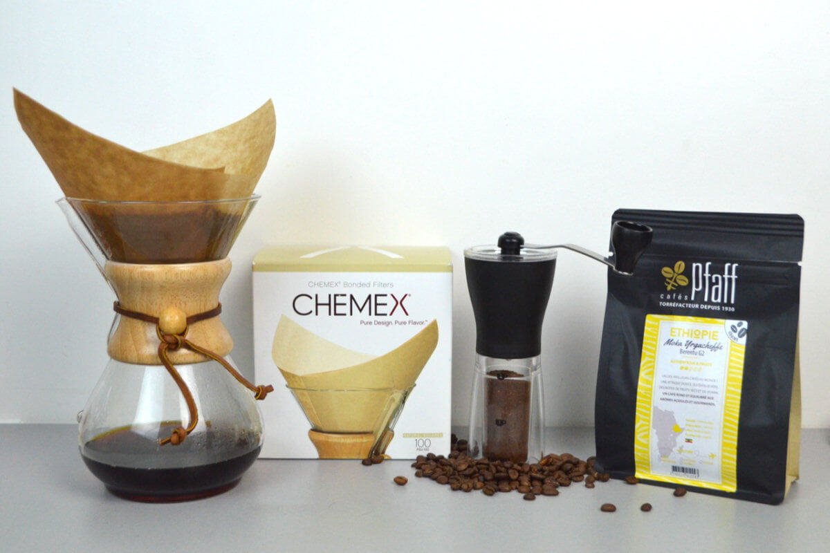 pack chemex moulin filtre cafe