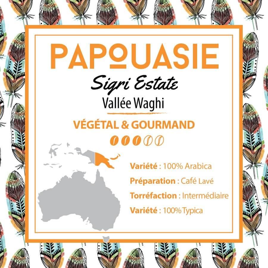 Café en grain PAPOUASIE - Plantation Sigri Waghi