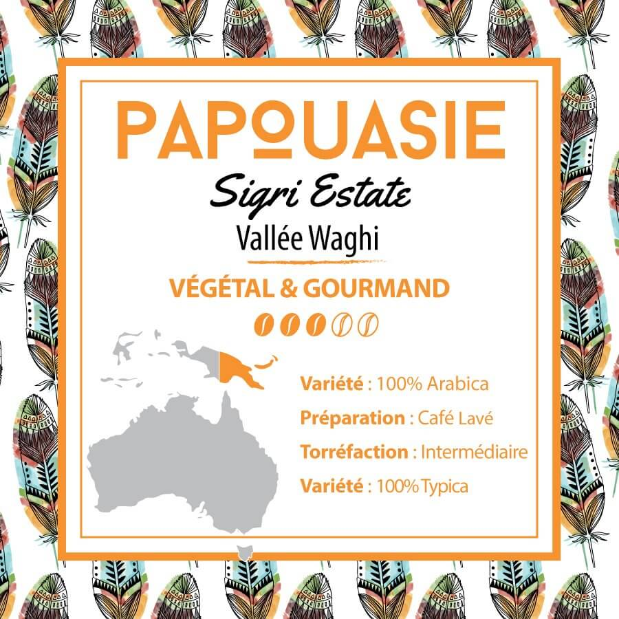 Café PAPOUASIE - Sigri Estate - Vallée Waghi - café moulu