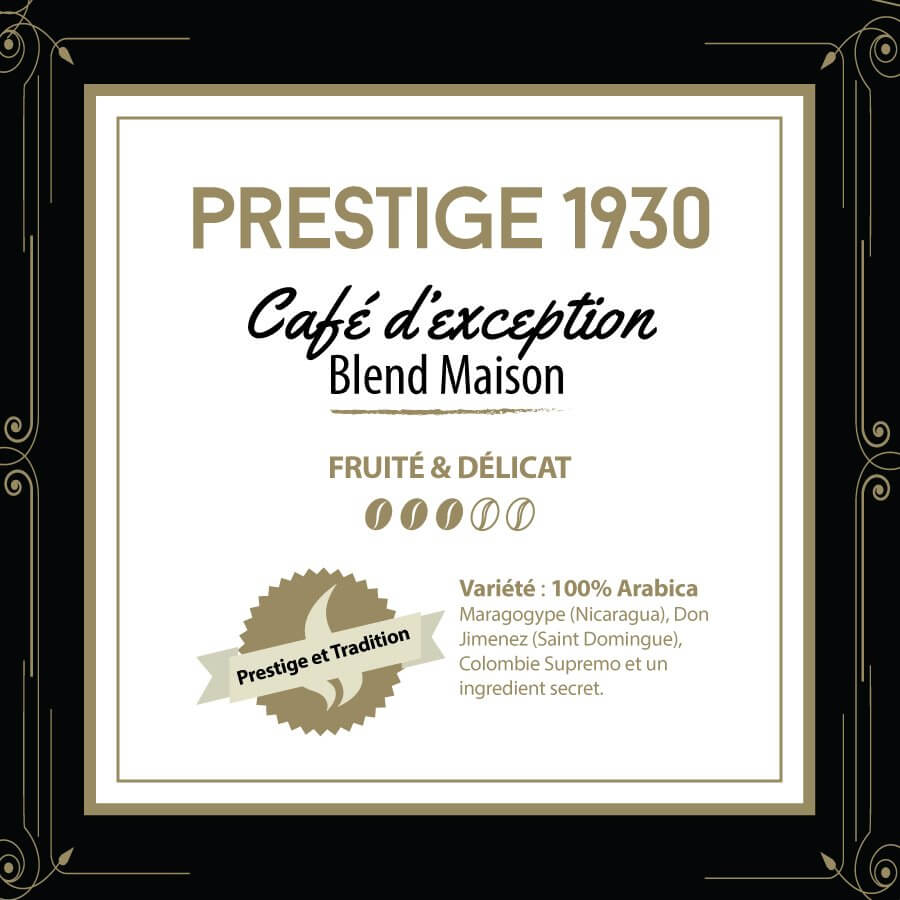 Café en grain BLEND MAISON - Prestige 1930