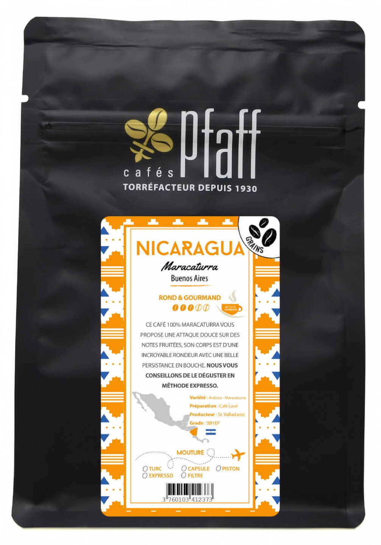 sachet 250g nicaragua maracaturra grain