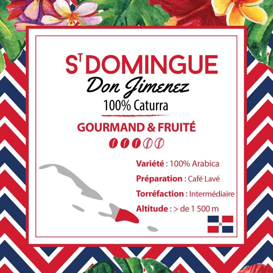 Café en grain SAINT DOMINGUE - Don Jimenez - 100% Caturra