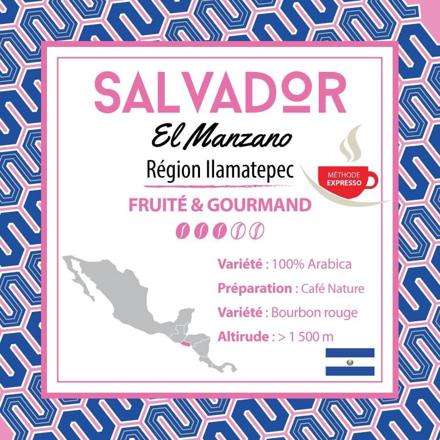 Café SALVADOR -  El Manzano - Région Ilamatepec - Méthode Expresso - café moulu