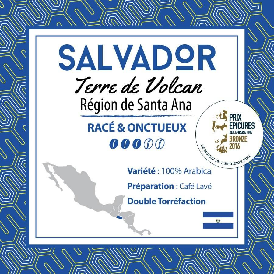 Café SALVADOR - Terre de Volcan -  Région de Santa Ana - café moulu