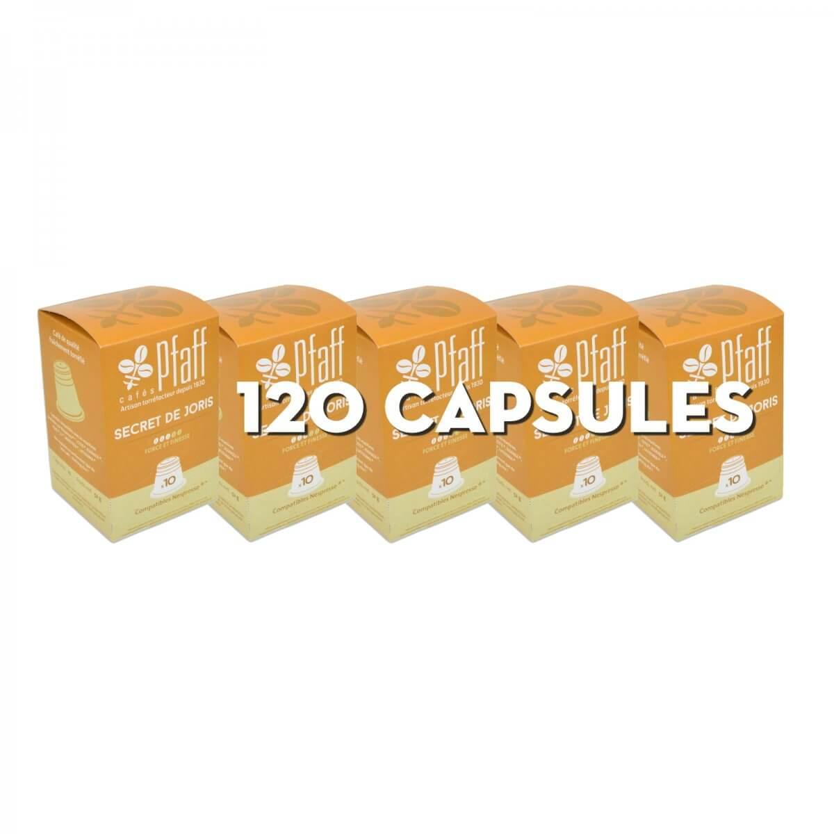 secret de joris capsules nespresso 120 cafes pfaff