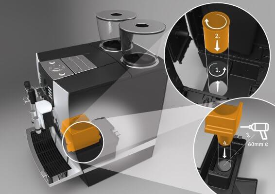 Kit éjection du marc de café pour GIGA X3/X7/X9