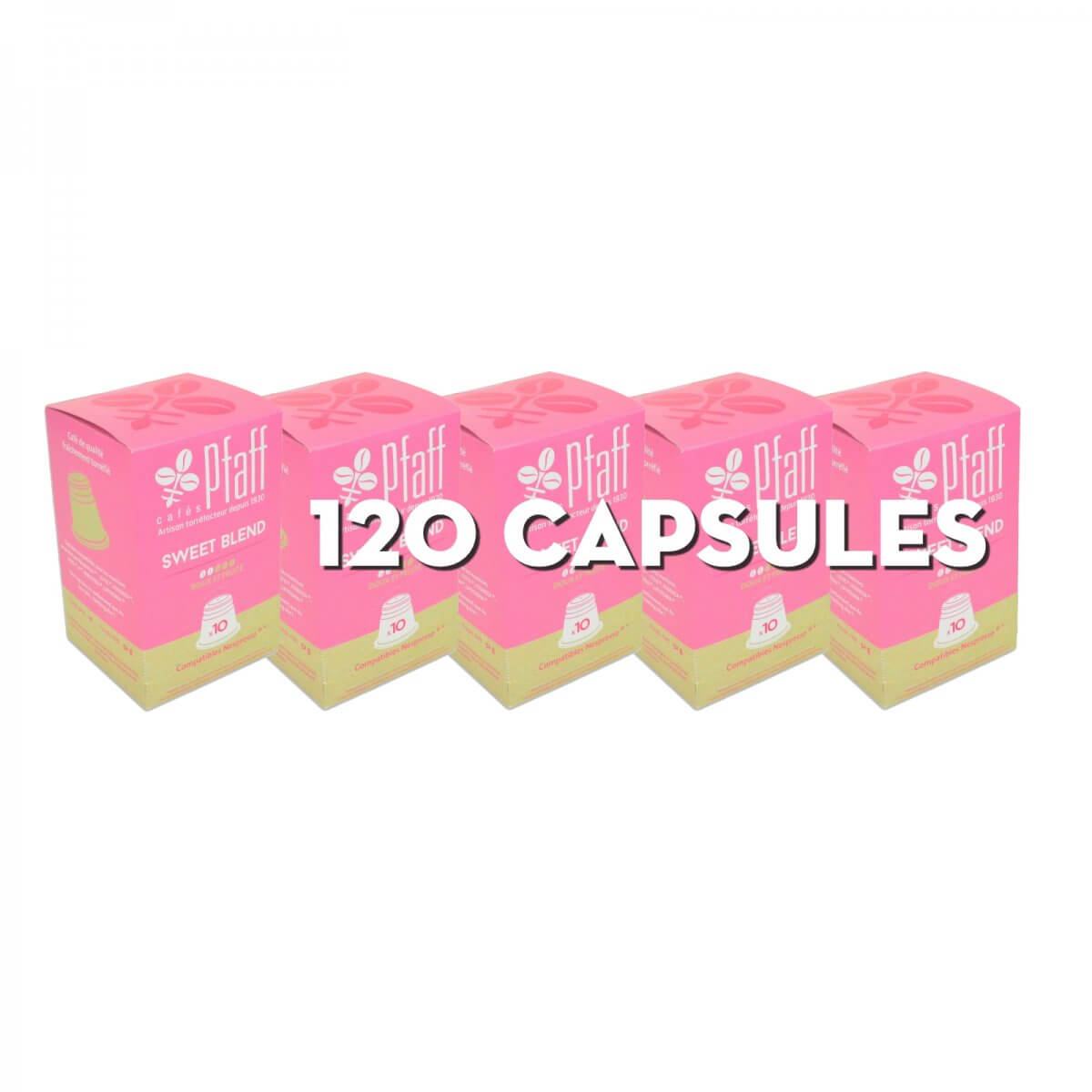 sweet blend capsules nespresso 120 cafes pfaff