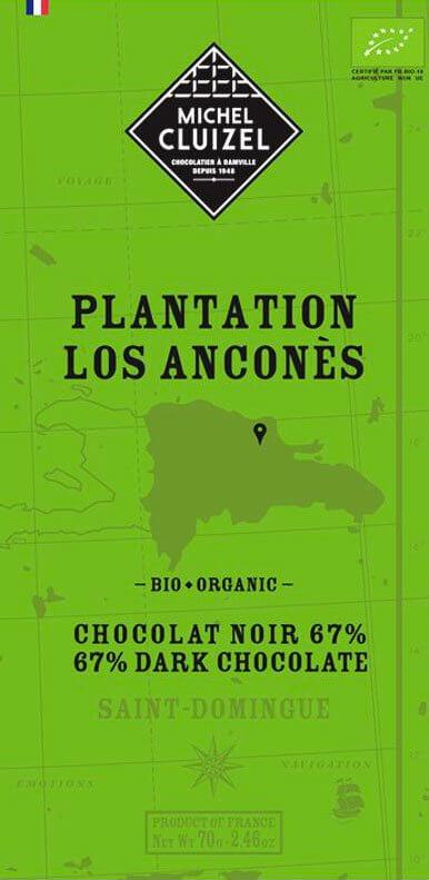Tablette Los Anconès 67% BIO - 1ers Crus de Plantation  - chocolatier Cluizel