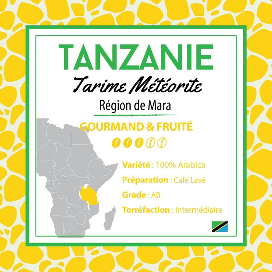 Café TANZANIE - Tarime Météorite  -  café moulu