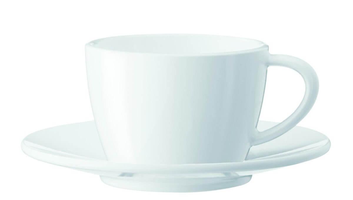 Tasses à cappuccino - lot de 2 tasses + sous-tasses