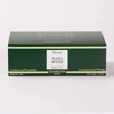 Tilleul - menthe, 24 sachets Cristal suremballés