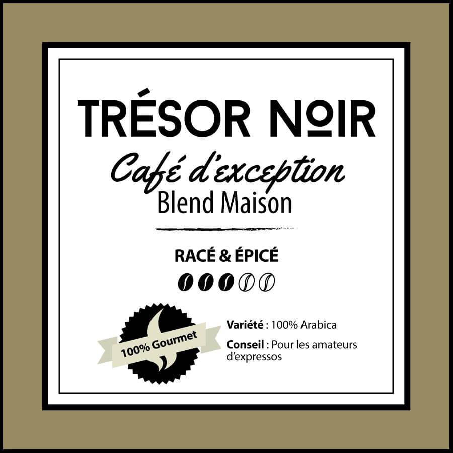 BLEND MAISON - Trésor Noir - café en grain