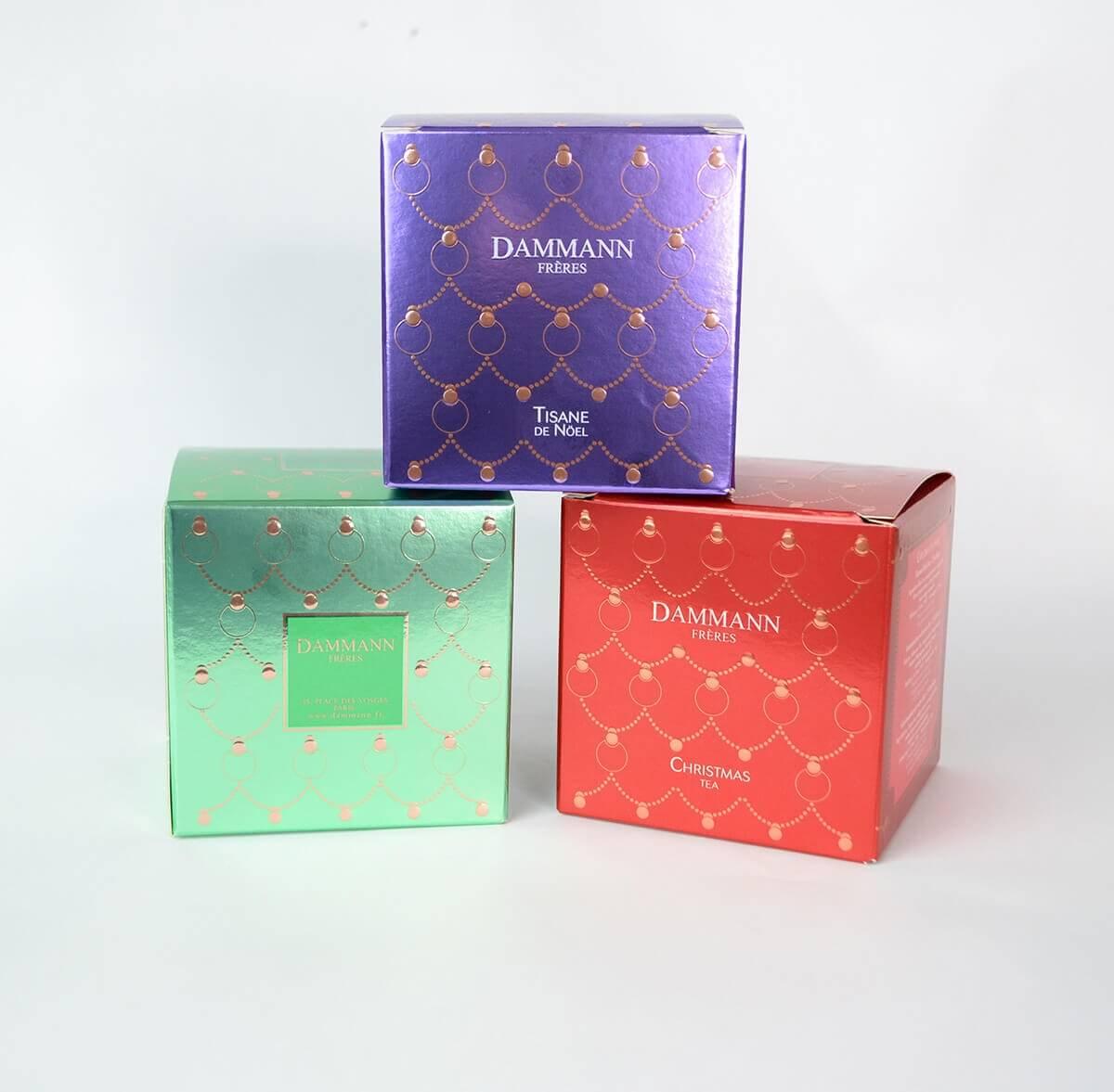 Trio de Noël Dammann Frères - 3 Boîtes de 25 sachets surremballés