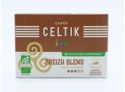 10 capsules 100% compostables breizh blend compatibles nespresso®*