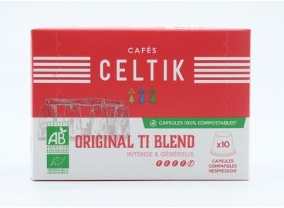 10 capsules 100% compostables Original Ti Blend compatibles Nespresso®*