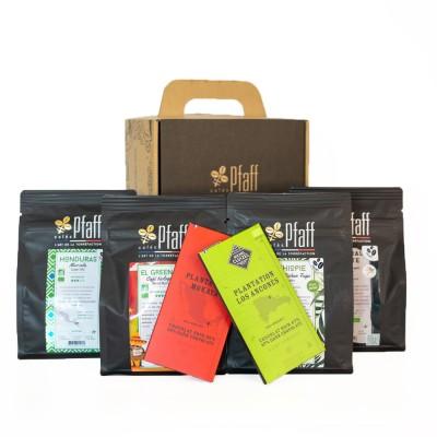 Coffret café :1 kg de cafés biologiques (4x250gr)