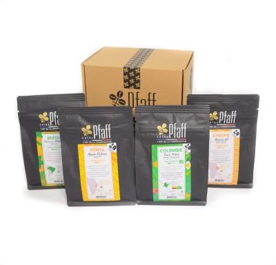 Coffret 1 kg de cafés gourmets - 4x250gr