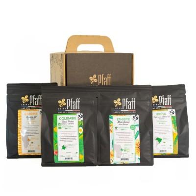 Coffret café :1 kg de cafés gourmets (4x250gr)
