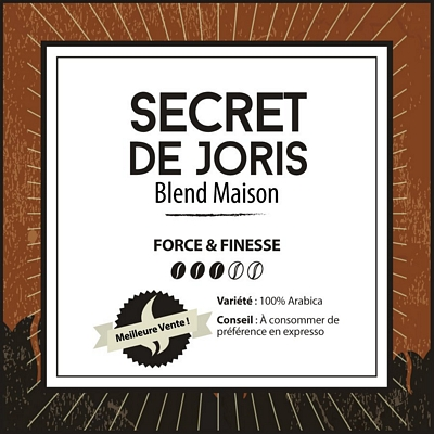 Café en grain BLEND MAISON - Secret de Joris