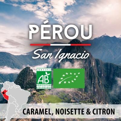 Café en grain BIO PEROU - San Ignacio - région Quilabamba