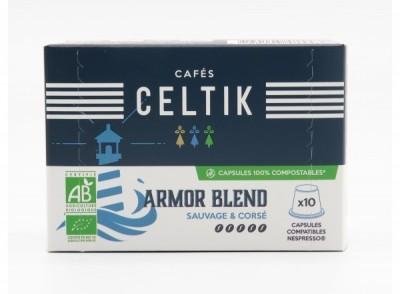 10 capsules 100% compostables Armor Blend compatibles Nespresso®*