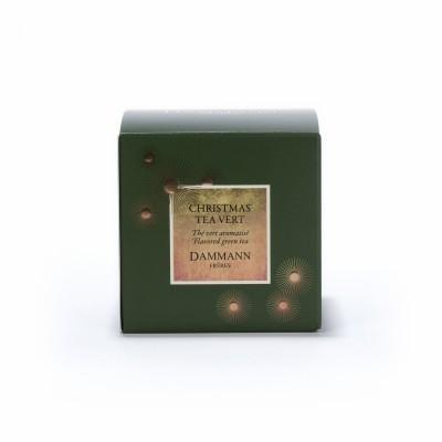 Thé Christmas Tea Vert Dammann Frères - boite 25 sachets Cristal