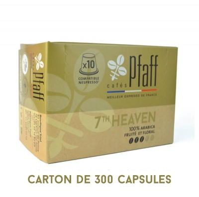 300 capsules 7Th HEAVEN compatibles Nespresso®* - élu meilleur expresso de France