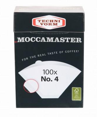 Filtres à café blancs x 100 Nr4 pour cafetière filtre Moccamaster