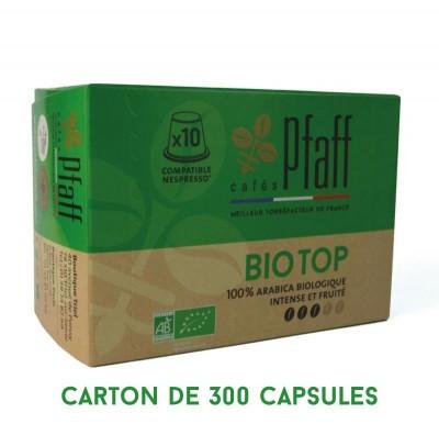 300 capsules Bio Top (bio) compatibles Nespresso®* - 100 % Arabica