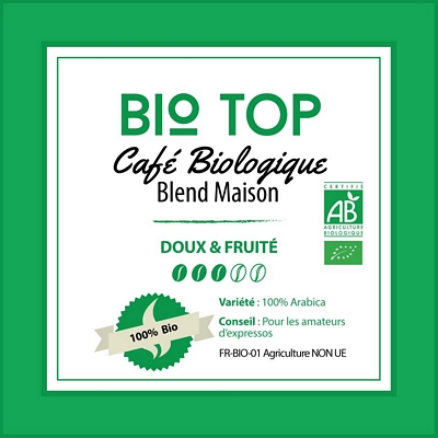 BLEND MAISON BIO - Bio Top - café moulu biologique