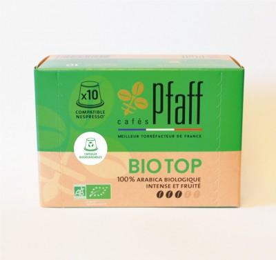10 capsules biodégradables BIO TOP compatibles Nespresso®*