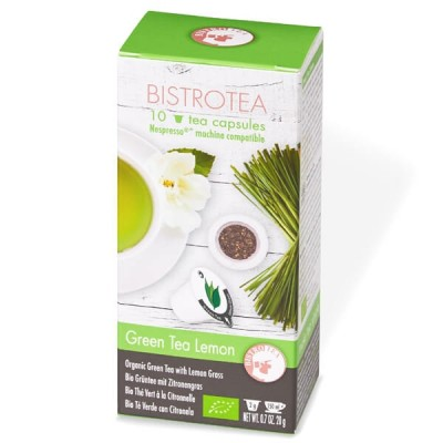Thé Vert Citronnelle Bio - boite de 10 capsules