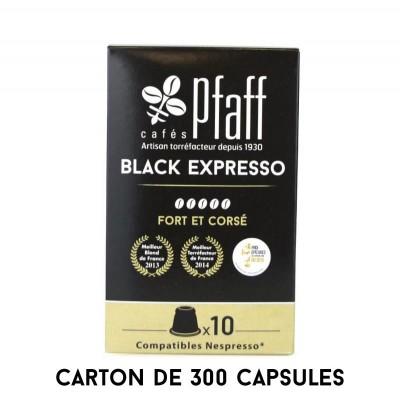 300 capsules Black Expresso -  compatibles Nespresso®*