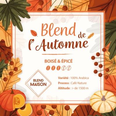 Café en grain BLEND MAISON - Blend de l'automne 2021