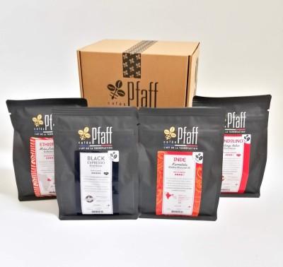 Coffret : Nos cafés de caractère - 4x250 Gr