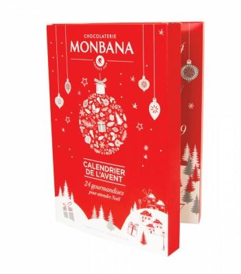 Calendrier de l'avent MONBANA - 24 gourmandises pour attendre Noël