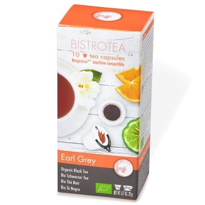 Thé Noir Earl Grey Bio - boite de 10 capsules