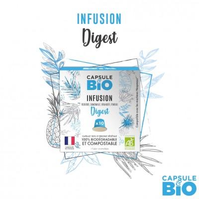 Capsule infusion DIGEST, rooibos bio - boite de 10 capsules