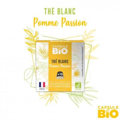 Capsule thé BLANC POMME PASSION bio - boite de 10 capsules