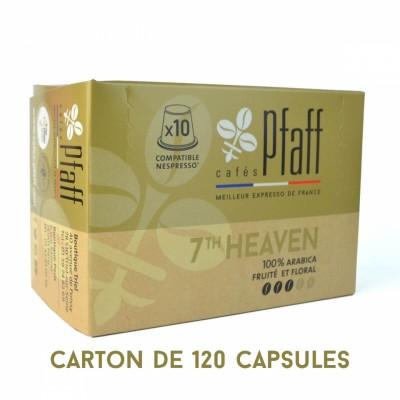 120 capsules 7Th HEAVEN compatibles Nespresso®* - élu meilleur expresso de France